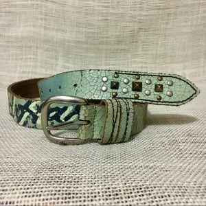 Ed Hardy Genuine Tattoo Style Leather Belt